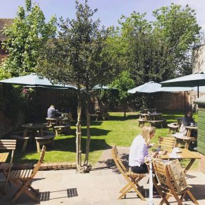Garden patio Cafe Paradiso Chichester West Sussex