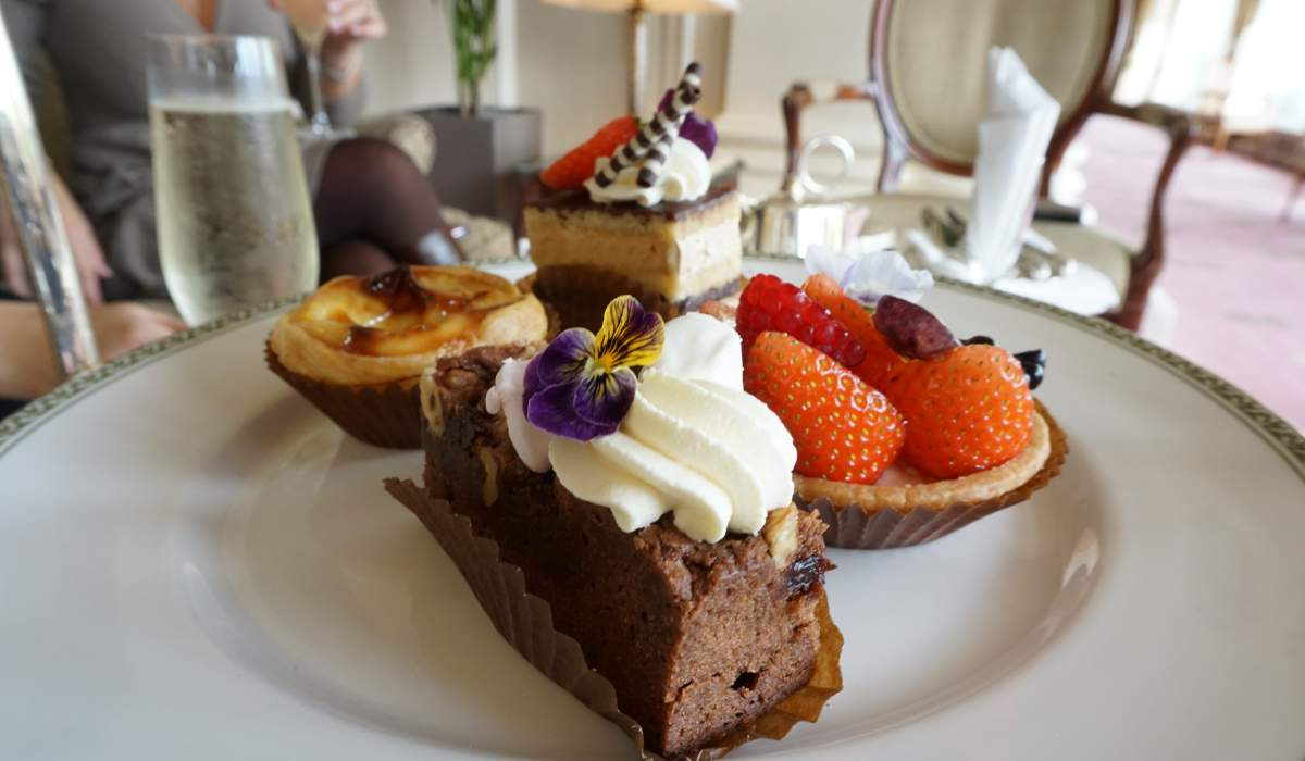Afternoon tea in Eastbourne East Sussex the south of England